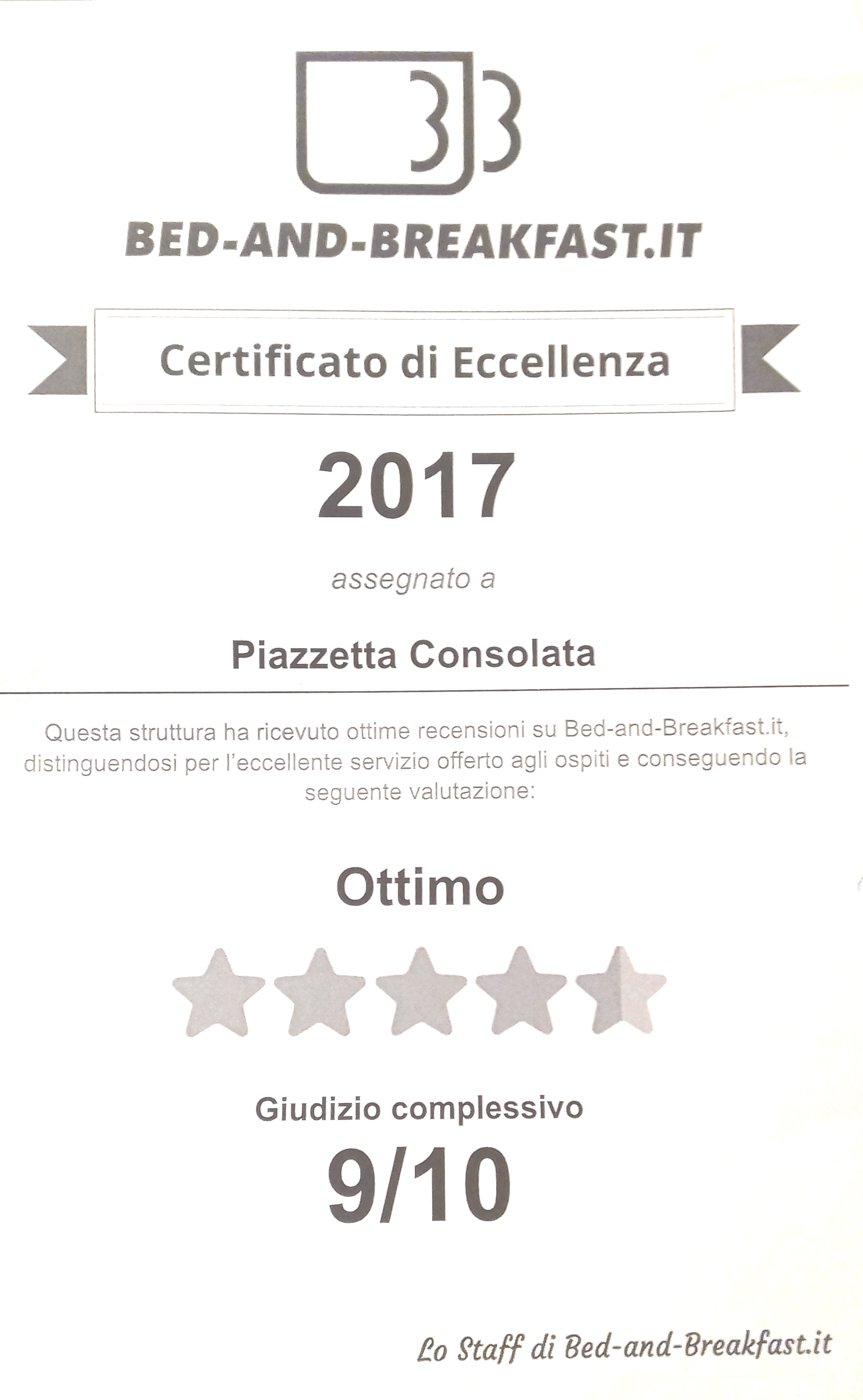 certificazione bed-and-breakfast.it
